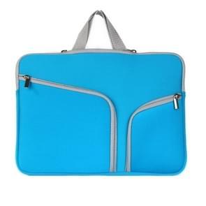 MacBook Air 11.6 inch Handtas Laptop Tas met draagriem  dubbele pocket en ritsen (donker blauw)