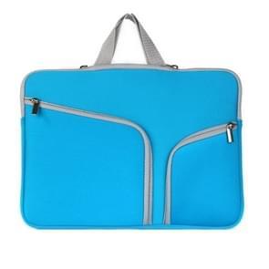 MacBook Air 13 inch Handtas Laptop Tas met draagriem  dubbele pocket en ritsen (donker blauw)