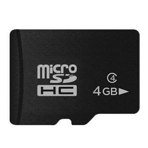 4GB High Speed Class 10 Micro SD(TF) Memory Card from Taiwan, Write: 8mb/s, Read: 12mb/s (100% Real Capacity)(Black)