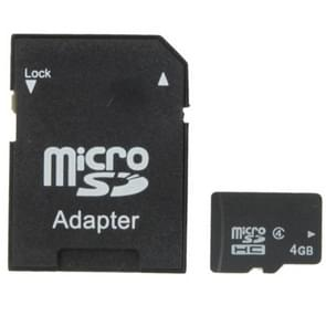 4GB High Speed Class 4 Micro SD(TF) Memory Card from Taiwan, Write: 7mb/s, Read: 15mb/s (100% Real Capacity)(Black)