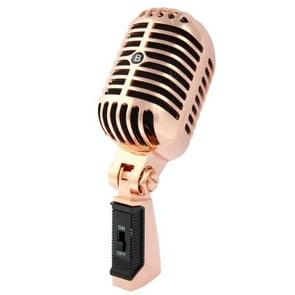 Professional bekabeld klassieke dynamische microfoon  lengte: 18cm (koper)