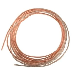10m 12AWG RVB Flexible Audio Speaker Cable, Outside Diameter: 4.2 x 8.4mm