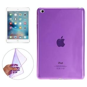 Smooth Surface TPU Case for iPad Mini 4(Purple)