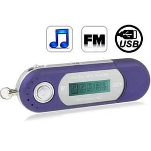 2GB MP3-speler met LCD-scherm, de Radio van de FM van de ondersteuning, werk met AAA-batterij, gebruiken als USB Flash Disk(Blue)