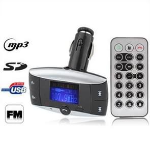 BT-01 Car Bluetooth MP3 Player with FM Transmitter, Support USB Flash Disk & SD / MMC Card(Black)