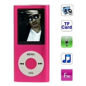 1.8 inch TFT Screen Metal MP4 Player with TF Card Slot, Support Recorder, FM Radio, E-Book and Calendar(Magenta)