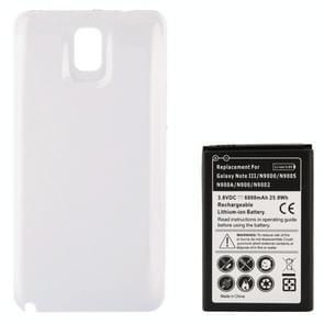 Mobiele telefoonbatterij van de vervanging van de 6800mAh & Cover terug deur voor Galaxy Note III / N9000(White)
