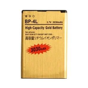 3030mAh BP - 4L gouden batterij met hoge capaciteit voor Nokia E63 / E61I / E90 / E71 / 6650F / N97 / E95