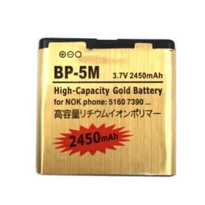 2450mAh BP-5M Gold Business-batterij met hoge capaciteit voor Nokia 5700XM / 5610 / 5610XM / 5700 / 7390 / 6220c