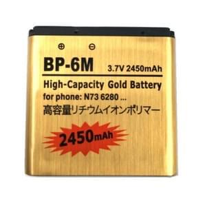2450mAh BP - 6M hoge capaciteit gouden Business batterij voor Nokia N73 / N93