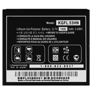 1500mAh mobiele telefoon accu voor de LG P990 / P920(Black)