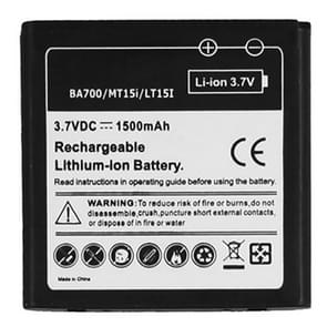 1500mAh Mobile Phone Battery for Sony Ericsson BA700 / MT15i / Xperia Neo