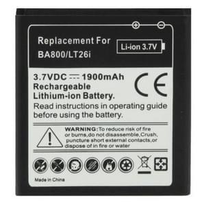 BA800 de batterij van de vervanging van de 1900mAh voor Sony Xperia S / LT26i / Xperia Arc HD
