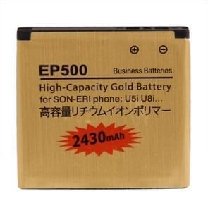 2430mAh EP500 hoge capaciteit gouden Business batterij voor Sony Ericsson Xperia U5i / U8i
