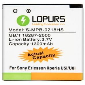 LOPURS hoge capaciteit Business batterij voor Sony Xperia U5i / U8i (werkelijke capaciteit: 1300mAh)