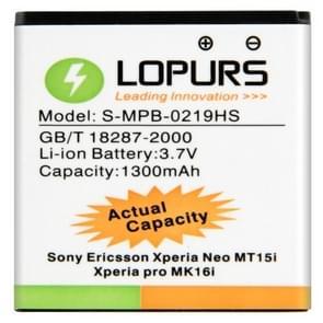 LOPURS hoge capaciteit Business batterij voor Sony MT15i Xperia Neo (werkelijke capaciteit: 1300mAh)