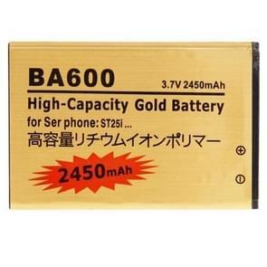 BA600 2450mAh High Capacity Gold Business Battery for Sony Xperia U / ST25i