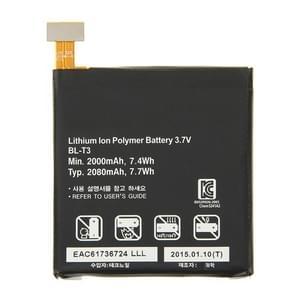 BL-T3 originele 2000mAh oplaadbare Li-Polymer-batterij voor LG Optimus VU F100S / F100L