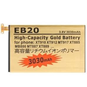 EB20 3030mAh hoge capaciteit gouden Business batterij met schroevendraaier voor Motorola XT910 / XT912 / MT917 / XT885 / MB886 / MT887 / XT889