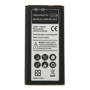 BV-5S 2100 mAh oplaadbare Li-ion vervangingsbatterij voor Nokia X2 / X2DS / RM-1013
