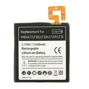 2100 mAh oplaadbare vervangende Li-ion batterij voor Sony Xperia T / LT30i / LT30p / LT30H / LT30