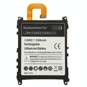 3300mAh vervanging van de oplaadbare Li-ion batterij voor Sony Xperia Z1 / L39h / C6902 / C6903