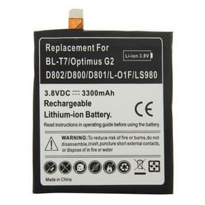 BL-T7 3300mAh oplaadbare vervangende Li-ion accu voor de LG Optimus G2 / D802 / D800 / D801 / L-01F / LS980
