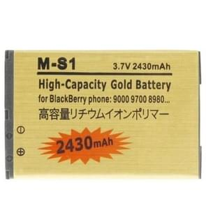 2430mAh M-S1 High Capacity Golden Edition Business Battery for BlackBerry 9000 / 9700 / 8980