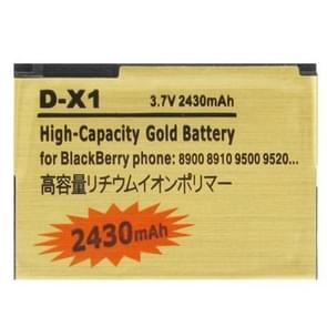 2430mAh D-X1 High Capacity Golden Edition Business Battery for BlackBerry 8900 / 8910 / 9500 / 9520