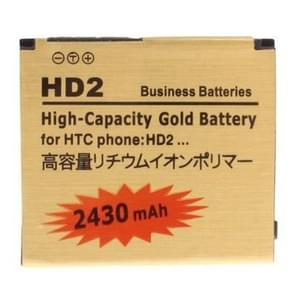 2430mAh High Capacity Gold Business Battery for HTC Touch HD2 / T8585 / T8588