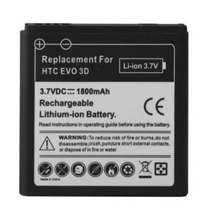 Mobiele telefoon batterij 1800mAh voor HTC EVO 3D / Sensation XL / G14 / X515m / G17 Sensation XE Z715e / G18(Black)