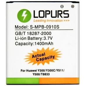 LOPURS batterij met hoge capaciteit Business voor Huawei Y300 / Y300C / Y511 / Y500 / T8833 (werkelijke capaciteit: 1400mAh)