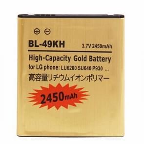 BL-49KH 2450mAh hoge capaciteit gouden Business batterij voor LG LU6200 / SU640 / P930