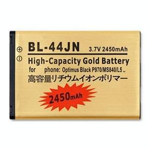 BL-44JN 2450mAh hoge capaciteit gouden Business batterij voor LG MS840 / P970 / L5
