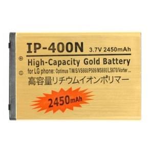 2450mAh hoge capaciteit gouden Business accu voor de LG Optimus T / M / S / VS660 / MS690 / P509 / LS670 / Vorter