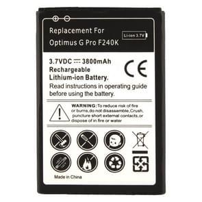 Batterij van de vervanging van de 3800mAh voor de LG Optimus G Pro F240K