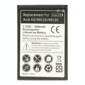 2000mAh Replacement Battery for ZTE fervent 4G / N9120 / N9100(Black)