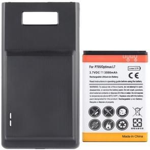 de batterij van de mobiele telefoon van de 3500mAh & Cover terug deur voor de LG Optimus L7 / P705(Black)