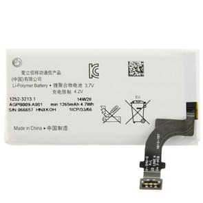 1265mAh oplaadbare Li-Polymer batterij voor Sony Xperia P LT22i