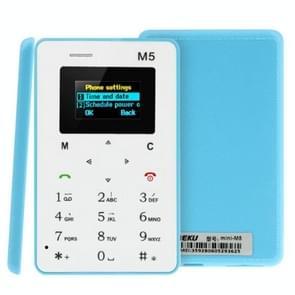 AEKU M5 GSM Mobile Card Phone, 4.5mm Ultra Thin, Ultra-low Radiation, Micro SIM, Network: 2G(Blue)