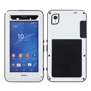 LOVE MEI Waterproof Dustproof Shockproof Metal Protective Case for Sony Xperia Z3(White)
