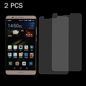 2PCS for  Huawei Ascend Mate 7 0.26mm 9H+ Surface Hardness 2.5D Explosion-proof Tempered Glass Film