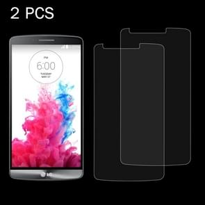 2 PCS for LG G3 / D855 / D856 / D857 / D859 0.26mm 9H Surface Hardness 2.5D Explosion-proof Tempered Glass Screen Film