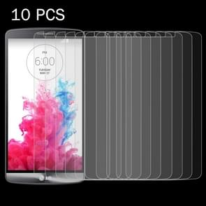 10 PCS for LG G3 / D855 / D856 / D857 / D859 0.26mm 9H Surface Hardness 2.5D Explosion-proof Tempered Glass Screen Film