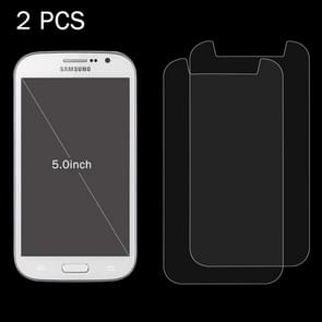 2 PCS 5.0 inch Mobile Phones 0.26mm 9H Surface Hardness 2.5D Explosion-proof Tempered Glass Screen Film