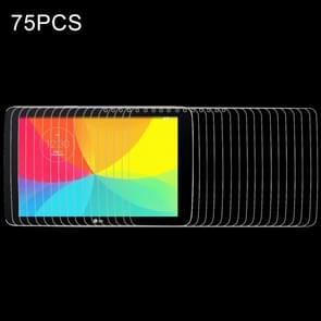 75 PCS for LG G Tablet 10.1 / V700 0.4mm 9H+ Surface Hardness 2.5D Explosion-proof Tempered Glass Film