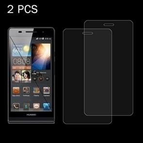2 PCS for Huawei P9 0.26mm 9H Surface Hardness 2.5D Explosion-proof Tempered Glass Screen Film