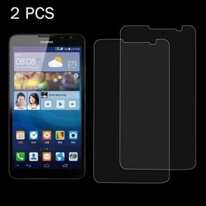 2 PCS for  Huawei Ascend Mate 2 0.26mm 9H Surface Hardness 2.5D Explosion-proof Tempered Glass Screen Film