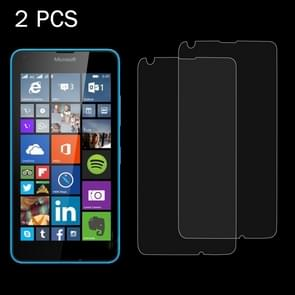 2 PCS for Microsoft Lumia 640 0.26mm 9H Surface Hardness 2.5D Explosion-proof Tempered Glass Screen Film
