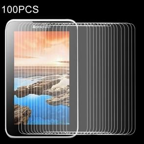 100 PCS for Lenovo A3500 / A7-50 0.4mm 9H+ Surface Hardness 2.5D Explosion-proof Tempered Glass Film